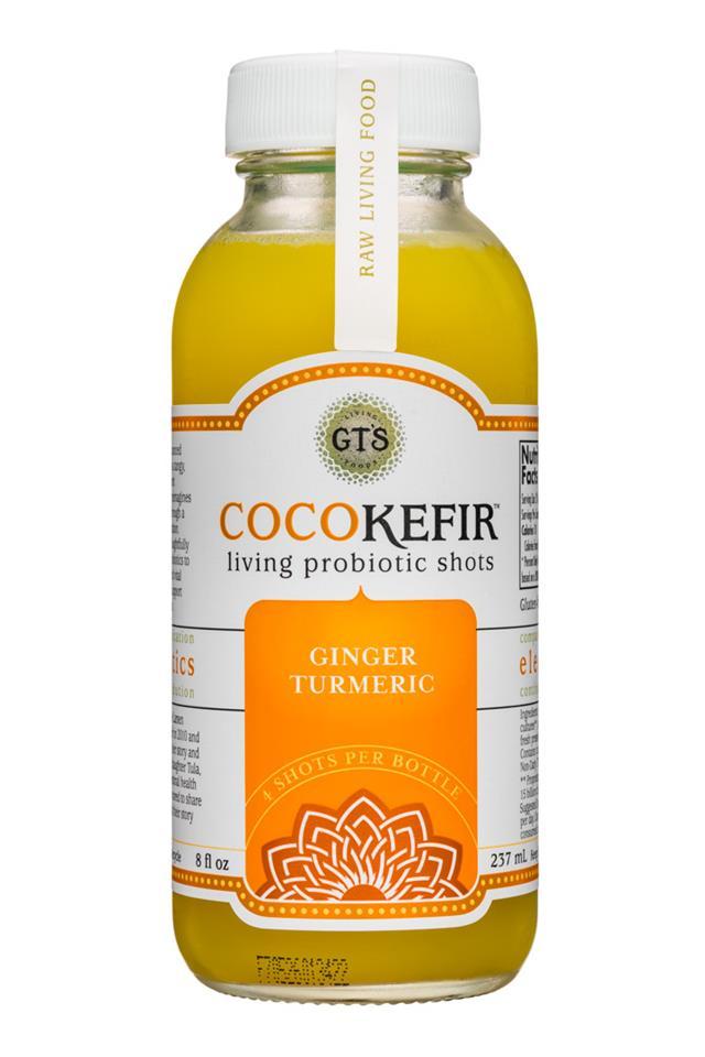 GT's Veggiekefir: GTs-8oz-CocoKefir-GingerTurmeric-Front