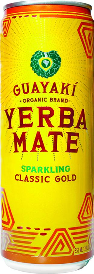Guayaki Sparkling Yerba Mate: classic gold