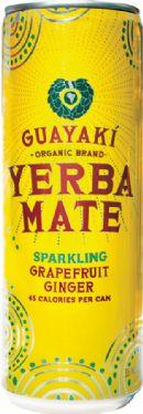 Guayaki Sparkling Yerba Mate: grapefruit ginger