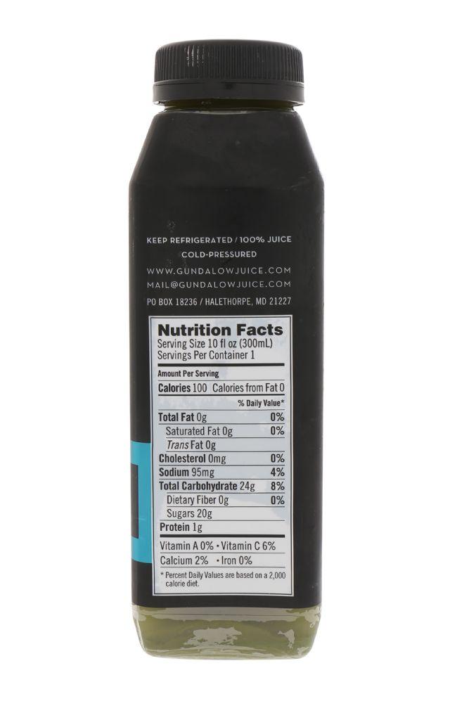 Gundalow Juice: MainStayGreen_Facts