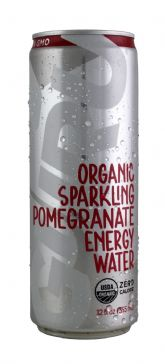 Organic Sparkling Pomegranate Energy Water