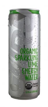 Organic Sparkling Lime Energy Water