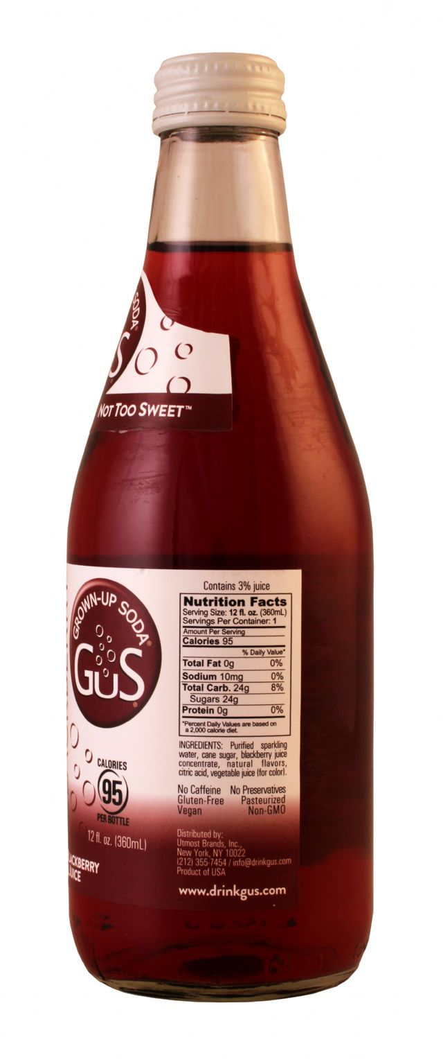 GuS (Grown-Up Soda): Gus DryBlack Facts