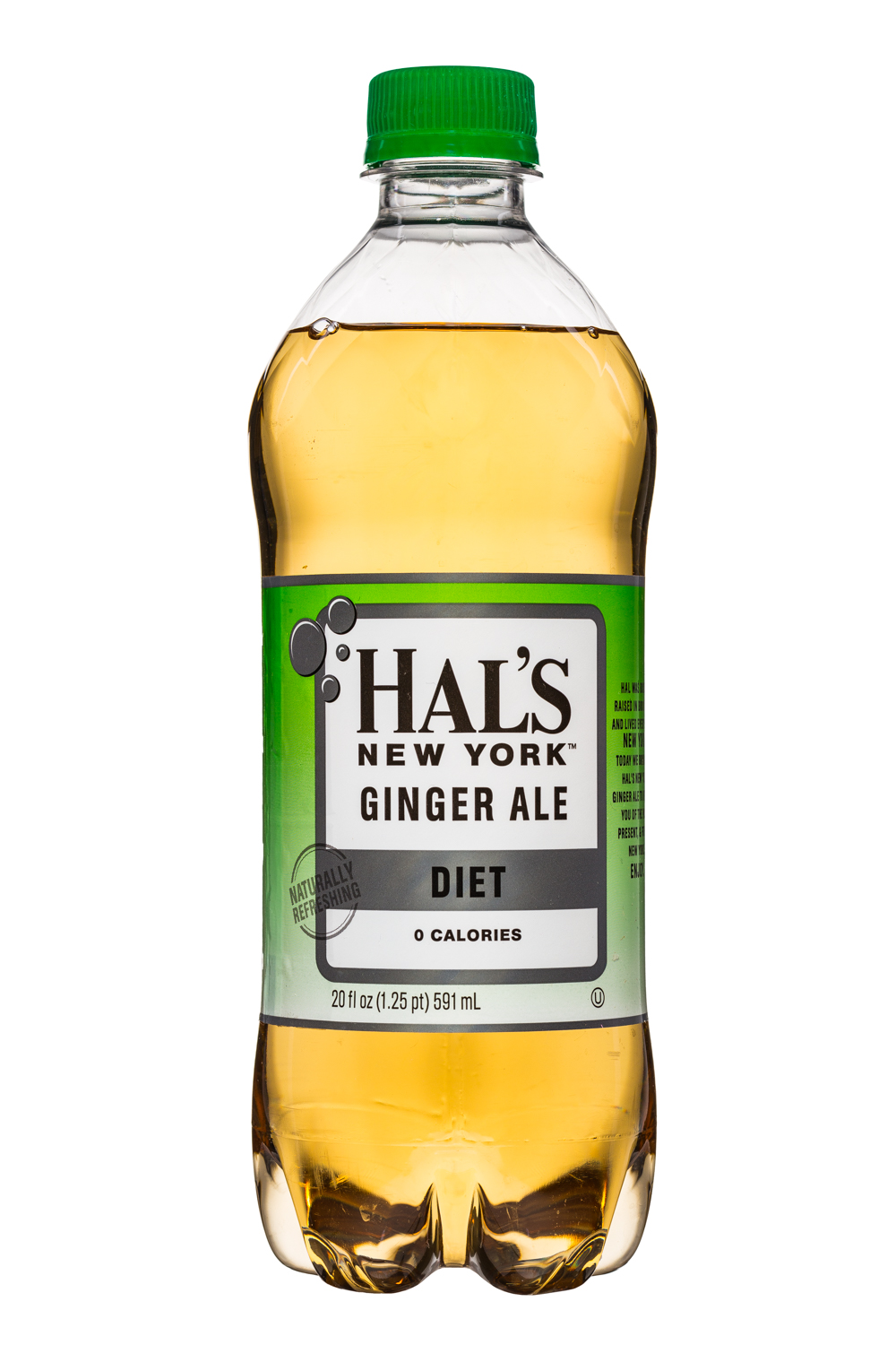 Hal's New York: HalsNY-GingerAle-20oz-Diet-Front