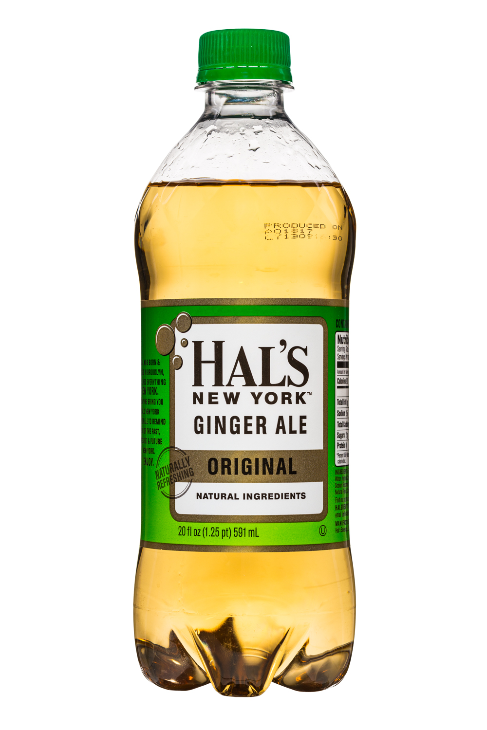 Hal's New York: HalsNY-GingerAle-20oz-OG-Front