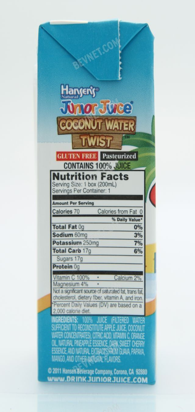 Hansens Junior Juice - Coconut Water Twist: