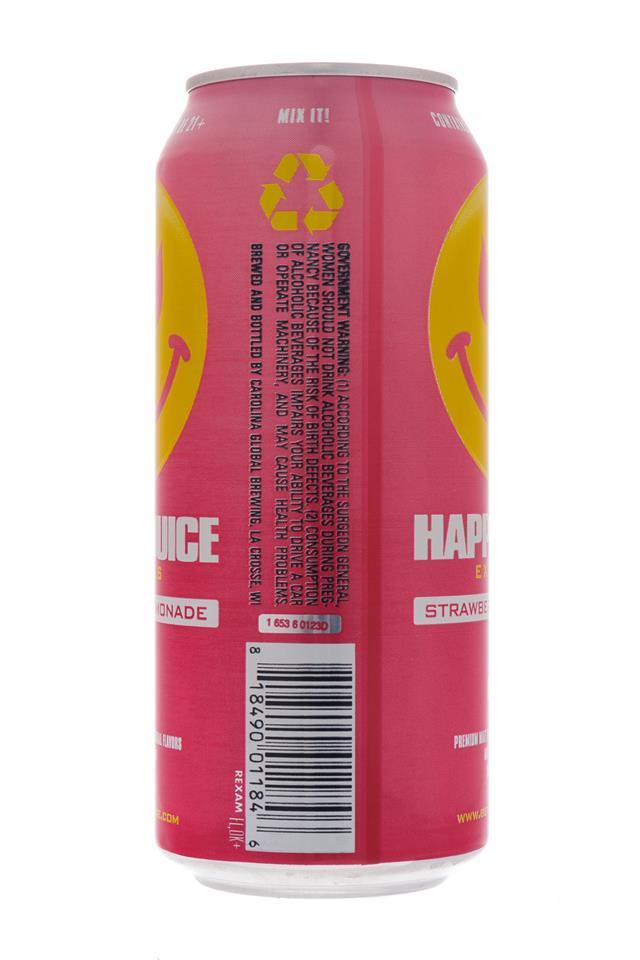 Happy Juice: HappyJuice-Express-StrawberryLemonade-Facts