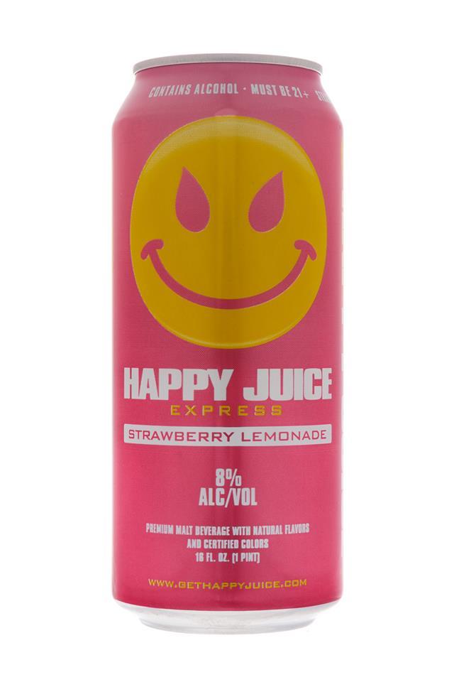 Happy Juice: HappyJuice-Express-StrawberryLemonade-Front