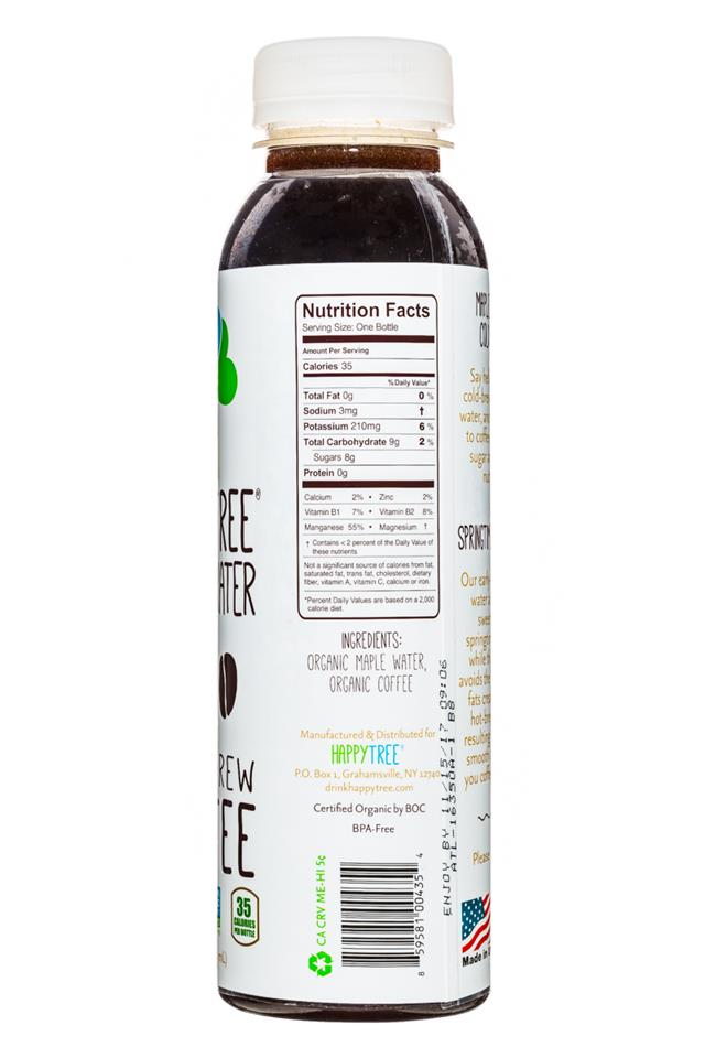 Happy Tree Maple Water: HappyTree-MapleWater-12oz-Coffee-Facts