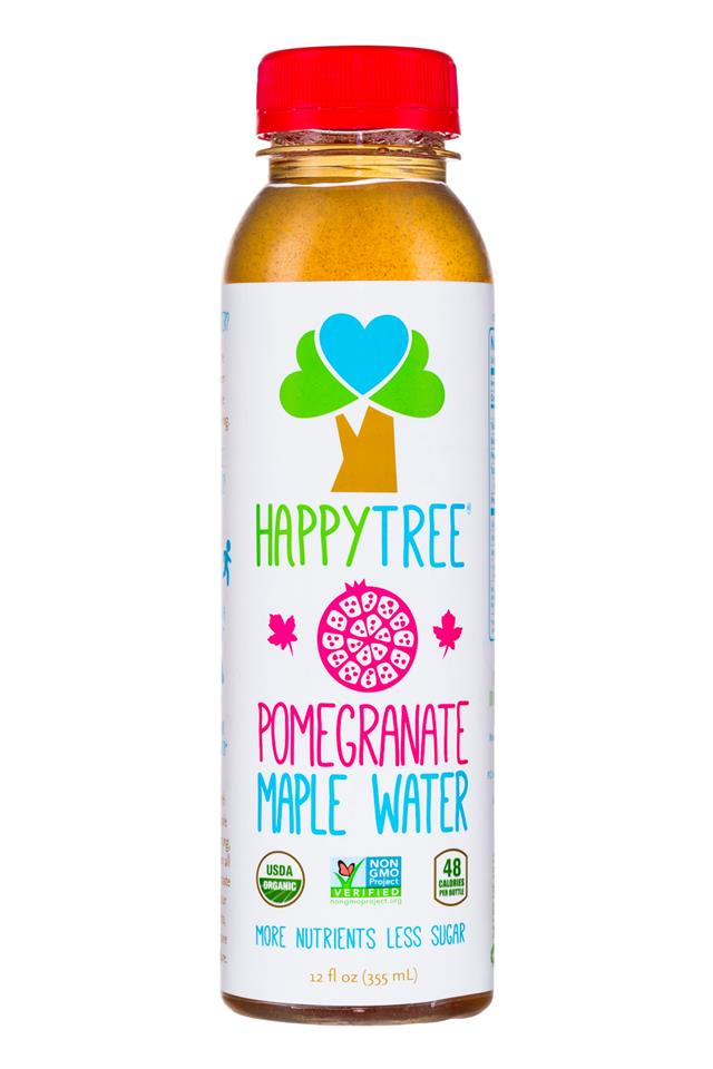 Happy Tree Maple Water: HappyTree-12oz-Pomegranate-MapleWater-Front