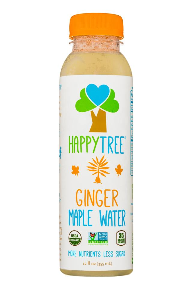 Happy Tree Maple Water: HappyTree-12oz-MapleWater-Ginger-Front