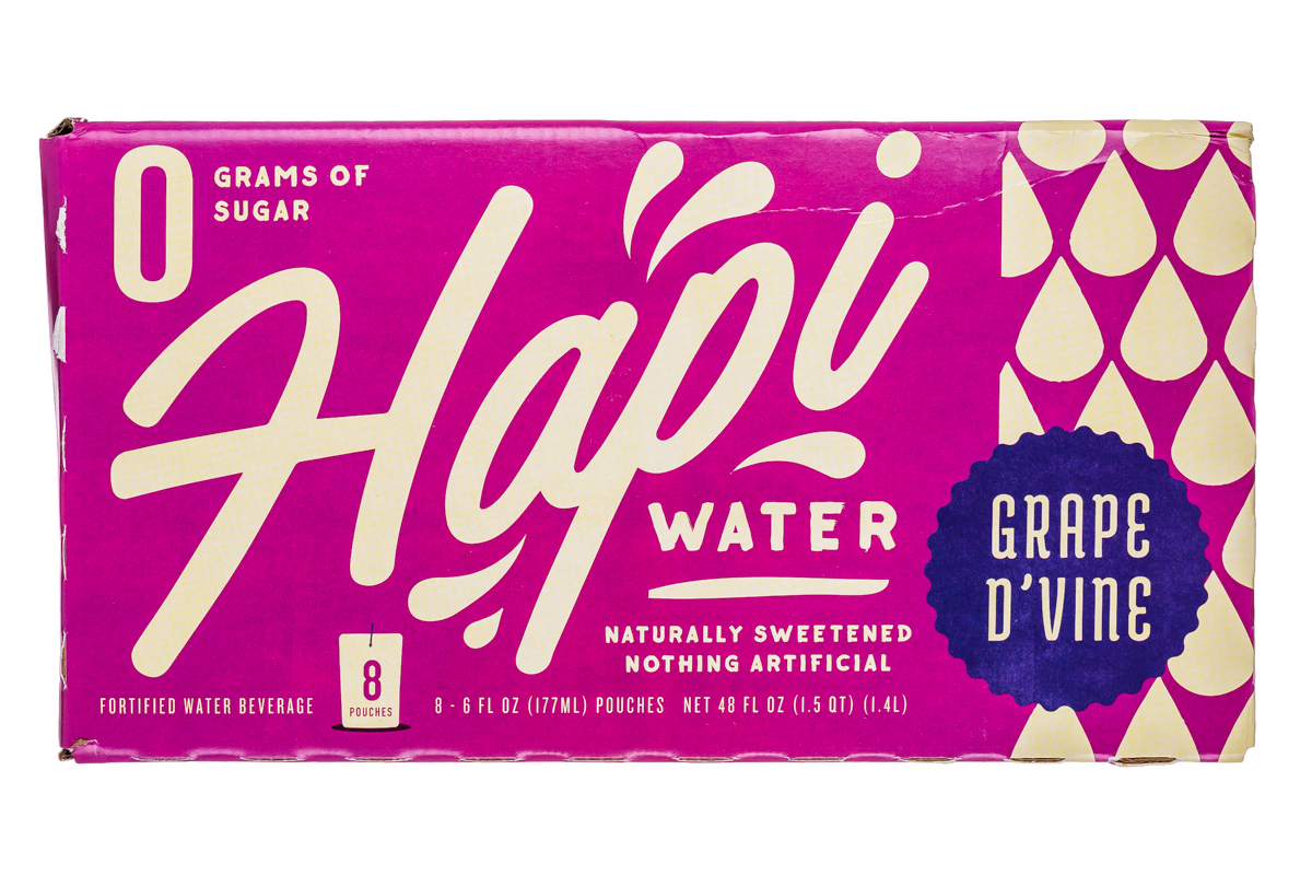 Hapi Water: Hapi-8Pouch-Water-GrapeDVine-Front