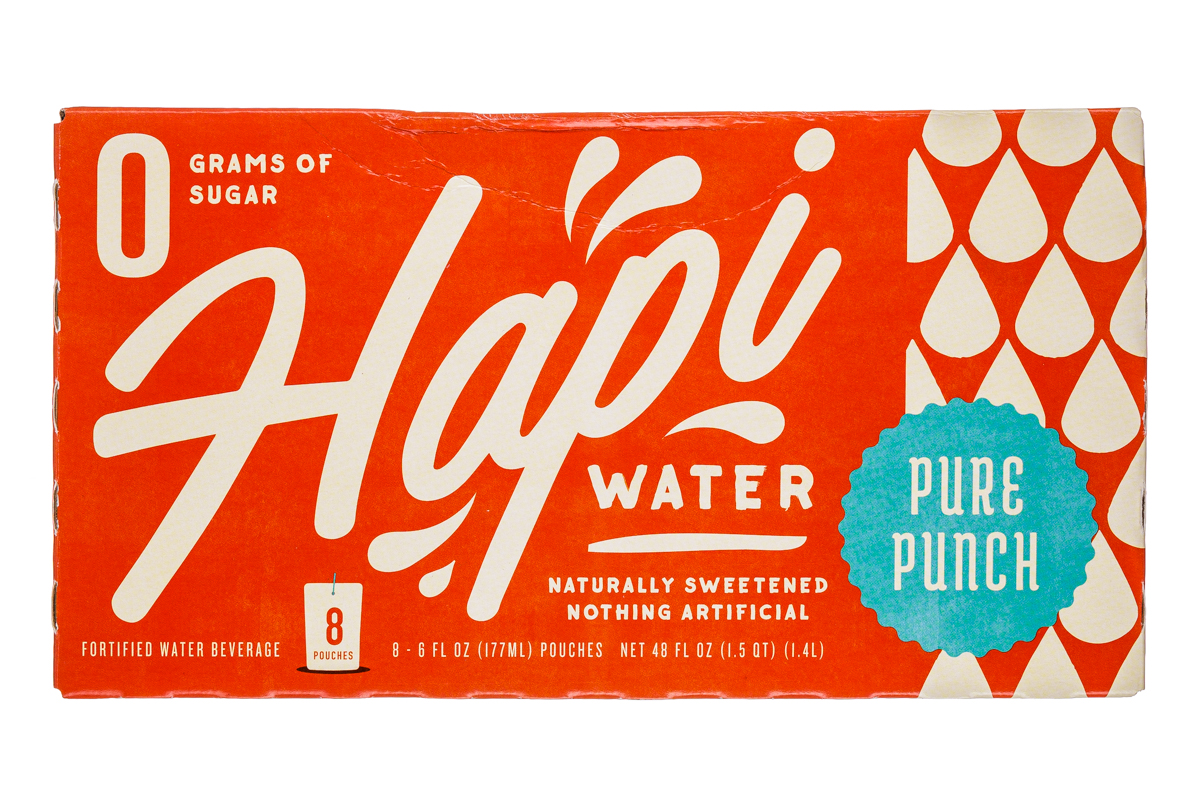 Hapi Water: Hapi-8Pouch-Water-PurePunch-Front