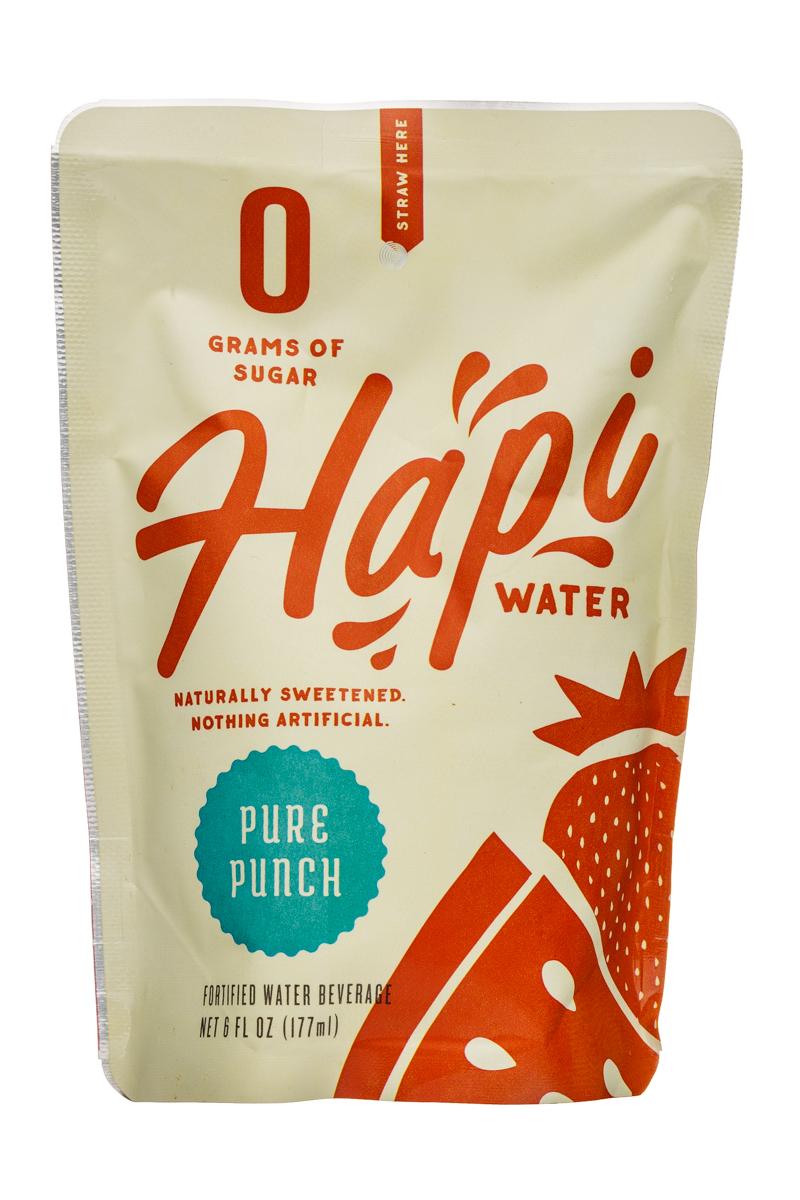 Hapi Water: Hapi-Water-6oz-Pouch-PurePunch