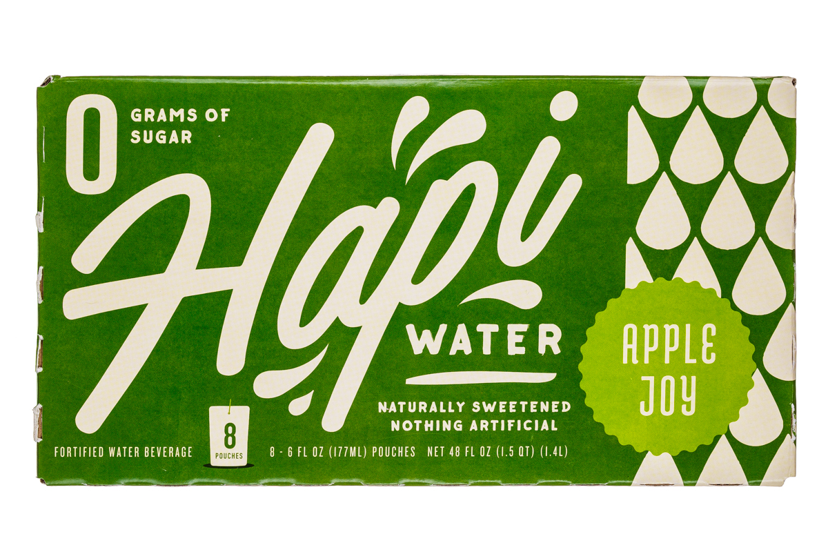 Hapi Water: Hapi-8Pouch-Water-AppleJoy-Front
