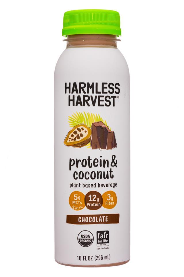 Harmless Harvest - Protein & Coconut: HarmlessHarvest-10oz-ProteinCoconut-Choc-Front