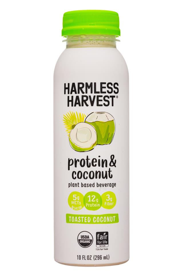 Harmless Harvest - Protein & Coconut: HarmlessHarvest-10oz-ProteinCoconut-ToastedCoconut-Front