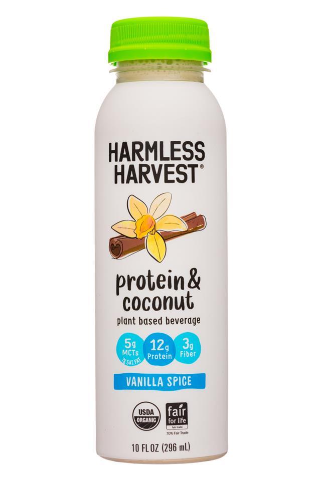 Harmless Harvest - Protein & Coconut: HarmlessHarvest-10oz-ProteinCoconut-VanillaSpice-Front