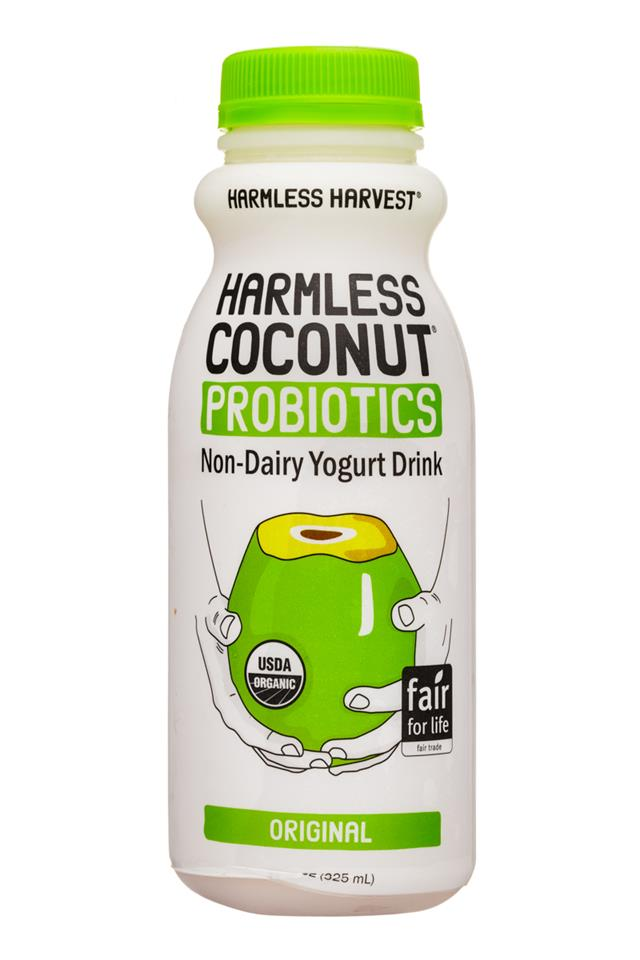 Harmless Harvest Harmless Coconut Probiotics: HarmlessHarvest-11oz-Probiotics-YogurtDrink-Original-Front