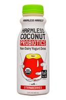 Harmless Harvest Harmless Coconut Probiotics: HarmlessHarvest-11oz-Probiotics-YogurtDrink-Strawberries-Front