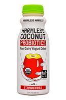 HarmlessHarvest-11oz-Probiotics-YogurtDrink-Strawberries-Front