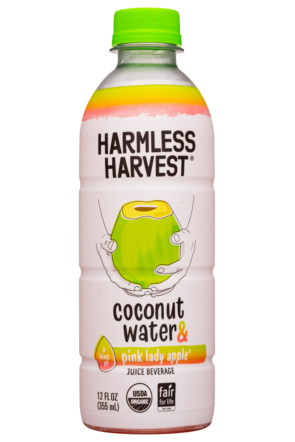 Coconut Water with a Hint of Pink Lady Apple