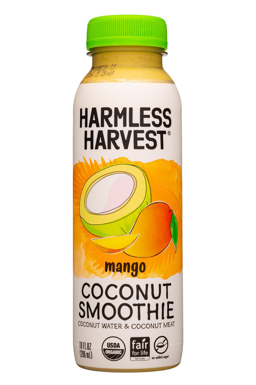 Harmless Harvest: HarmlessHarvest-10oz-2021-CoconutSmoothie-Mango-Front