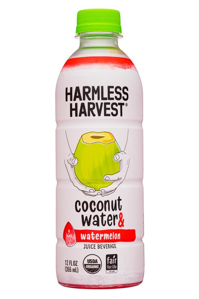 Harmless Harvest: HarmlessHarvest-12oz-2020-CoconutWater-Watermelon-Front