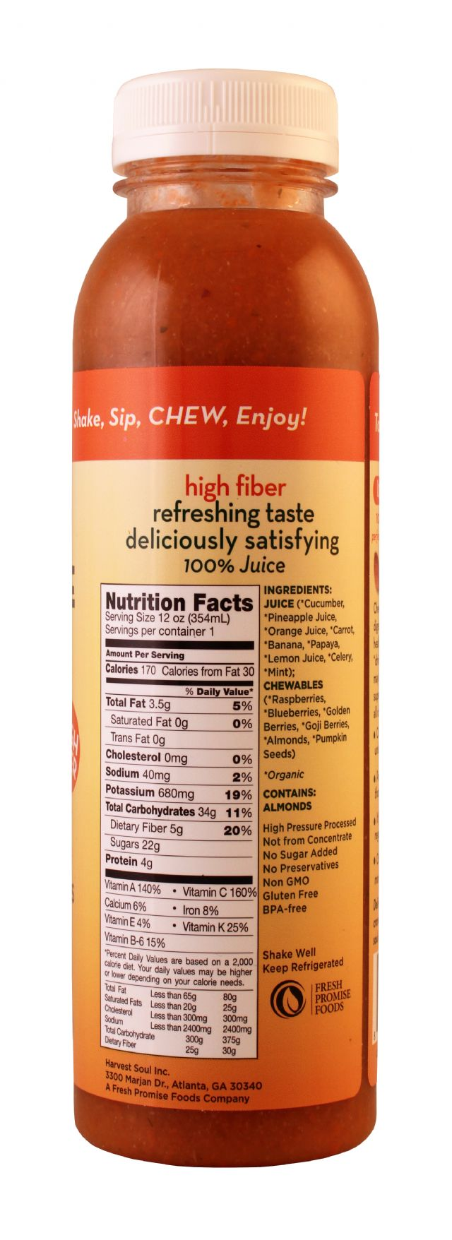 Harvest Soul Chewable Juice: HarvestSoul Tropical Facts
