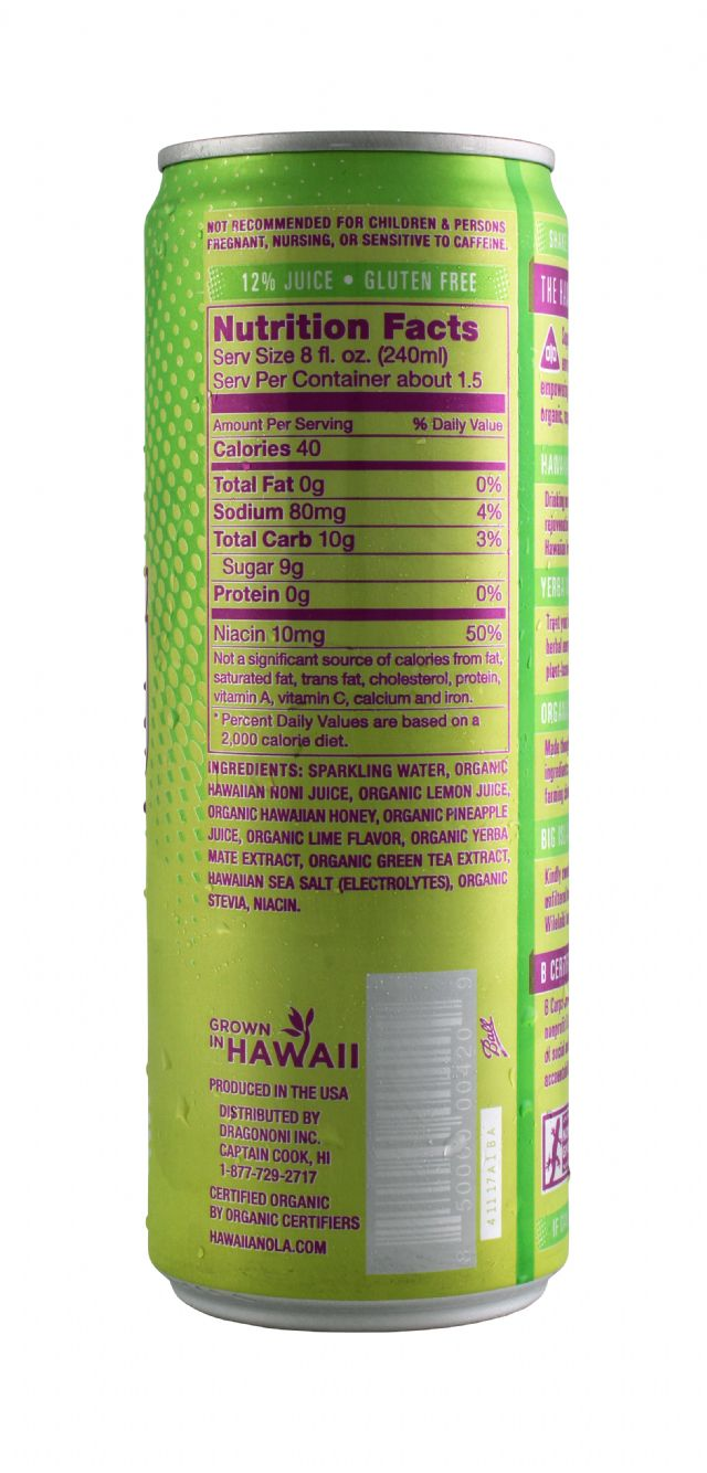 Hawaiian OLA: Noni LemonLime Facts
