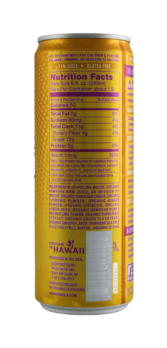 Hawaiian OLA: Noni GingerTurmeric Facts