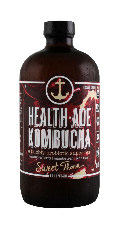 Health-Ade Kombucha: HealthAde SweetThorn Front