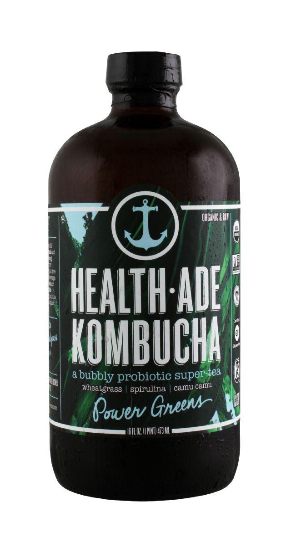 Health-Ade Kombucha: HealthAde PowerGreens Front