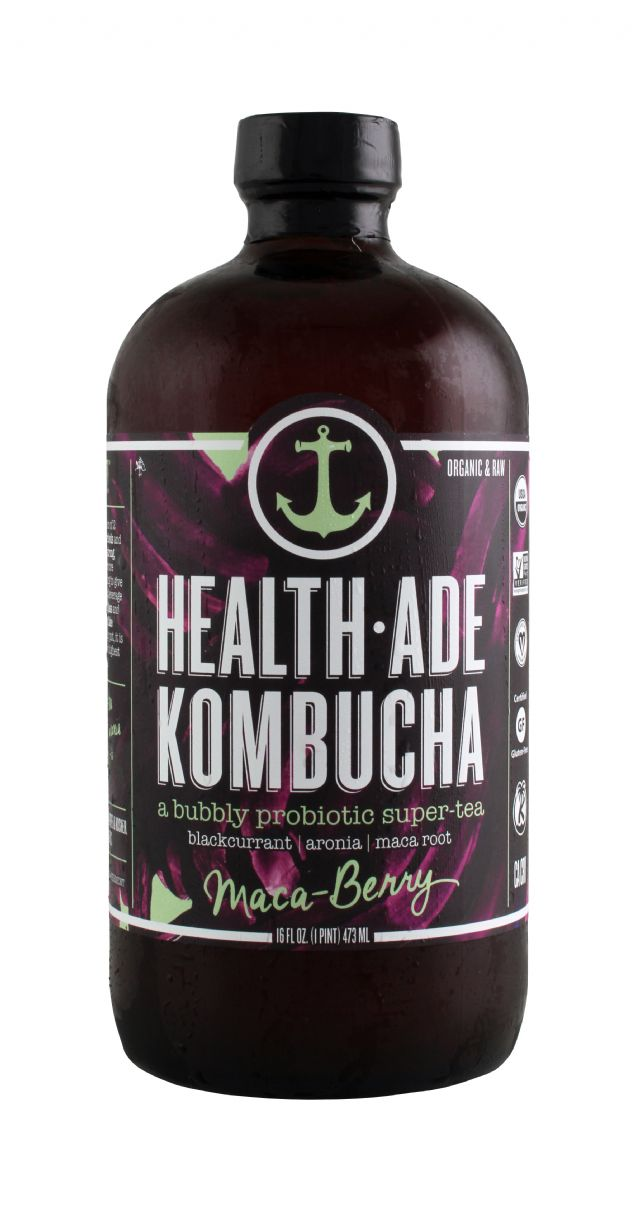 Health-Ade Kombucha: HealthAde MacaBerry Front