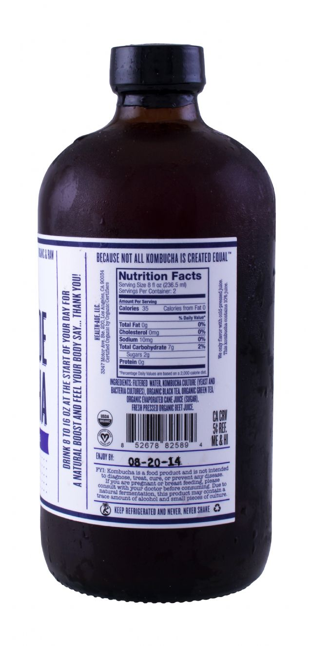 Health-Ade Kombucha: HealthAde Beet Facts