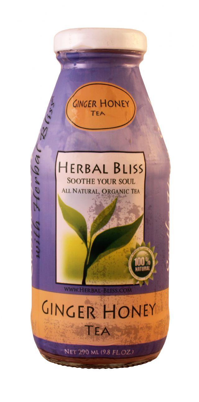 Herbal Bliss All Natural Organic Tea: HerbalBliss GingerHoney Front