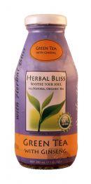 Herbal Bliss All Natural Organic Tea: HerbalBliss GreenTeaGinseng Front