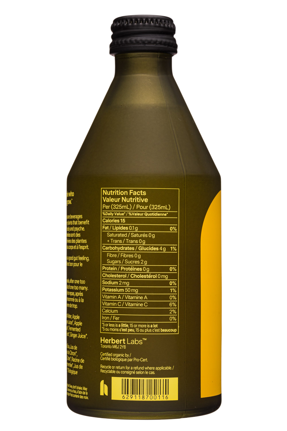 Herbert: Herbert-325ml-2020-SparklingPhytotonic-LemonGinger-Facts