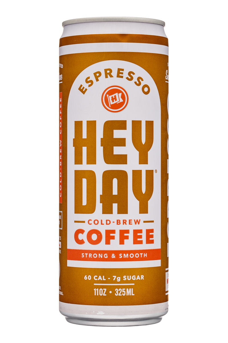 HeyDay Cold Brew Coffee: Heyday-11oz-ColdBrew-Espresso-Front