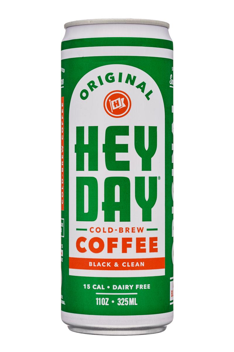 HeyDay Cold Brew Coffee: Heyday-11oz-ColdBrew-Original-Front
