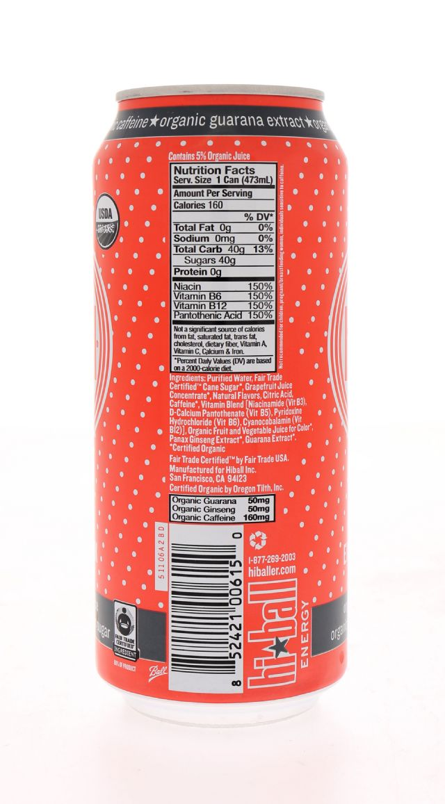 Hiball Energy Drinks: HiBall RubyRed Facts