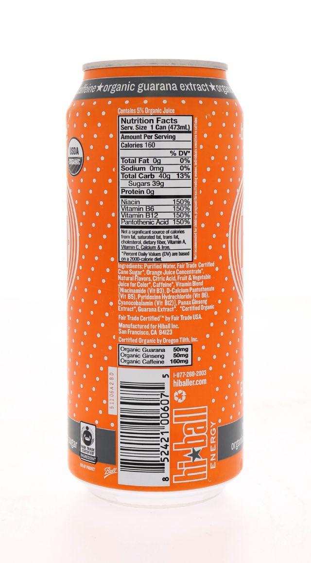 Hiball Energy Drinks: HiBall BloodOrange Facts