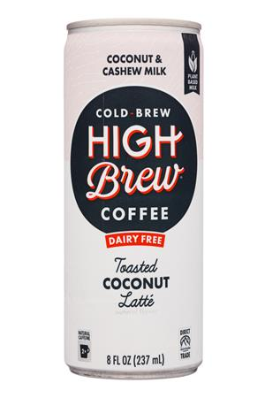High Brew Coffee: HighBrew-8oz-2020-ColdBrew-ToastedCoconutLatte-Front