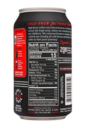 High Brew Coffee: HighBrew-12oz-2020-ColdBrew-Black20mg-Facts