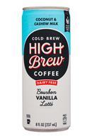 High Brew Coffee: HighBrew-8oz-2020-DairyFree-VanillaLatte-CoconutCashew-Front