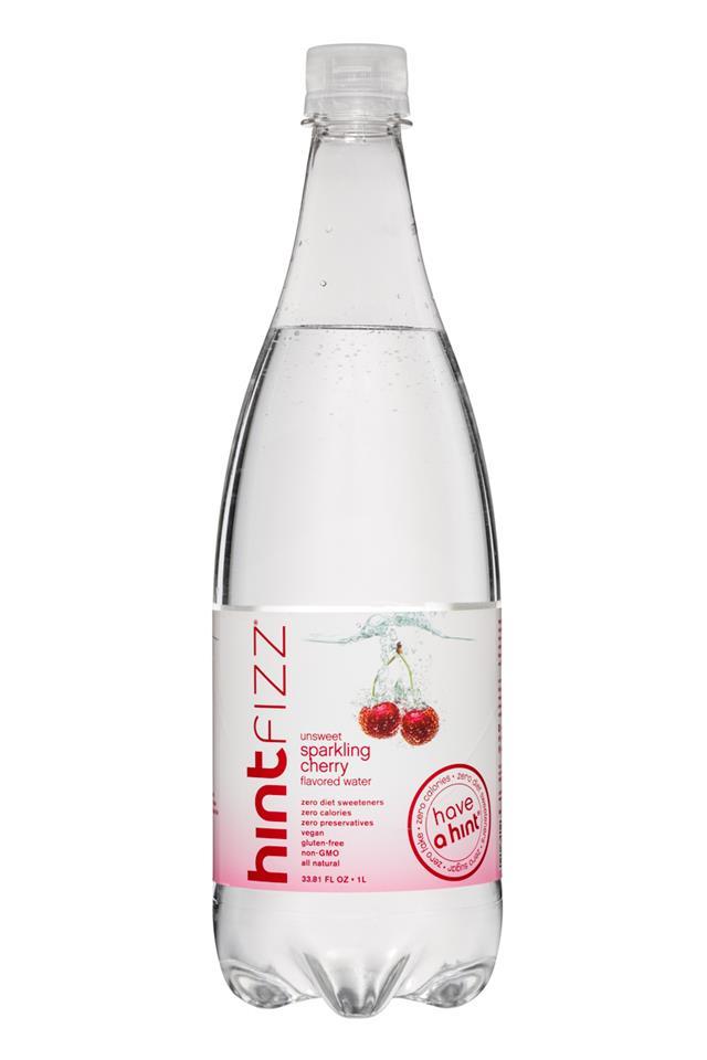 Hint Fizz: Hint-Fizz-1L-Unsweet-SparklingCherry-Front