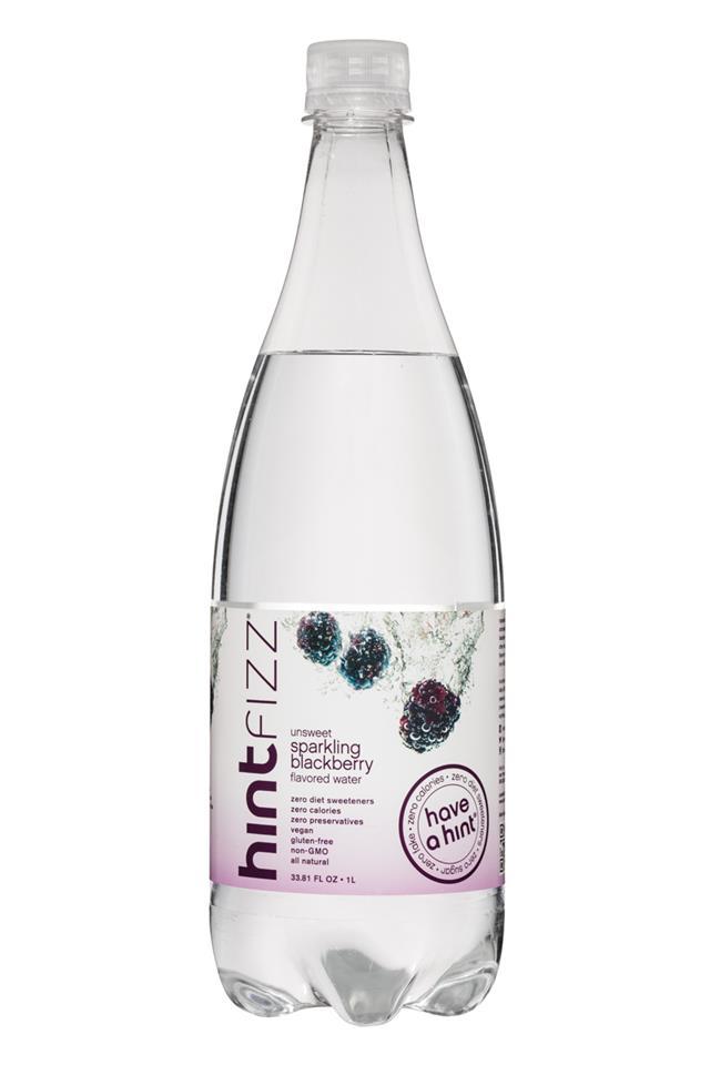 Hint Fizz: Hint-Fizz-1L-Unsweet-SparklingBlackberry-Front