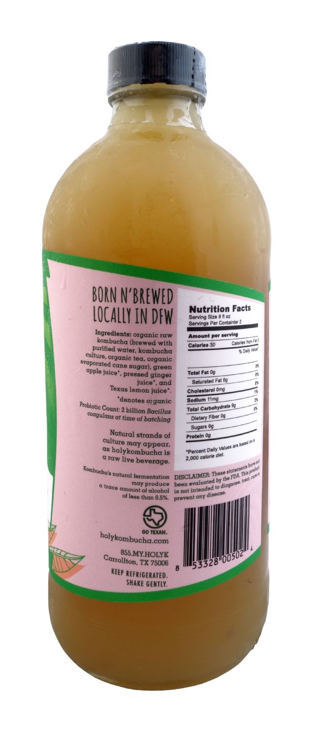 Holy Kombucha: Holy GreenApple Facts