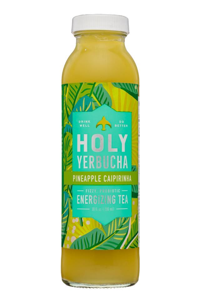 Holy Yerbucha: HolyYerbucha-10oz-Tea-PineappleCaipirinha-Front