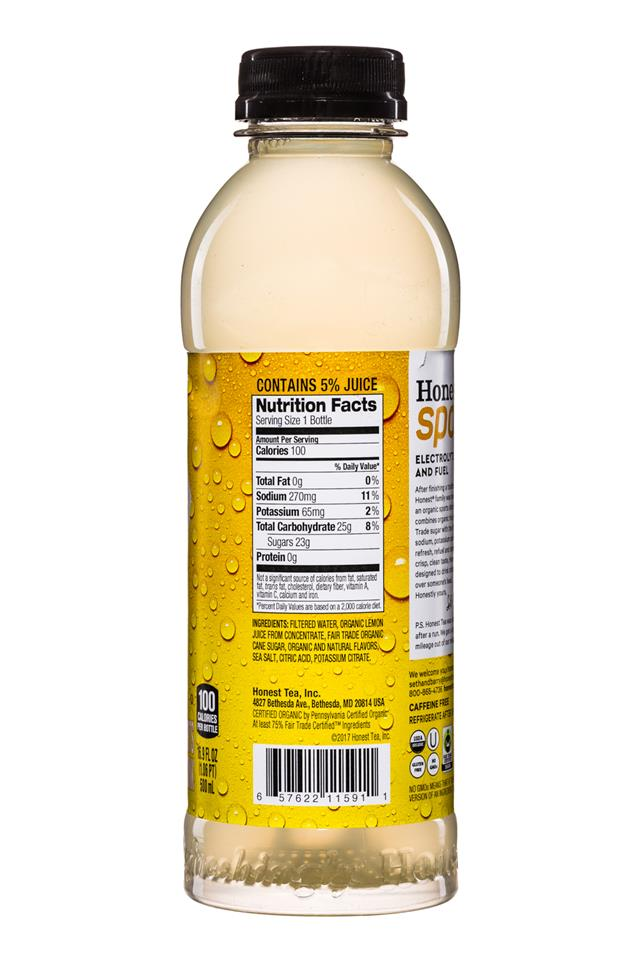 Honest Tea (Sport): Honest-Sport-17oz-Lemon-Facts